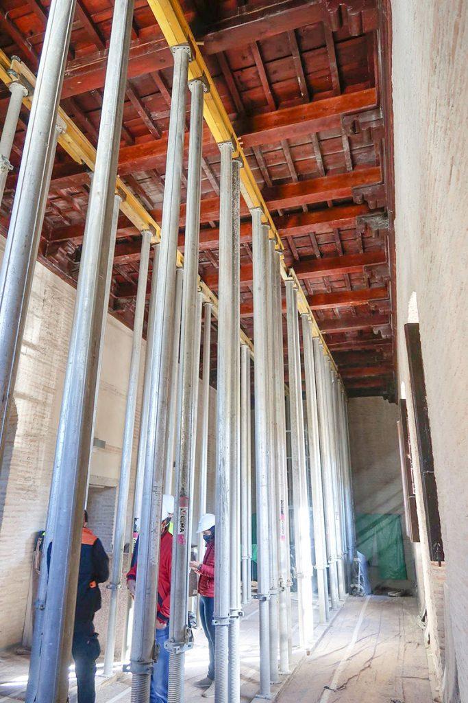 Obras del Edificio Central de la Abadía