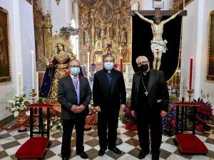 El Nuncio del Papa y el alcalde de granada visitan la Abadía