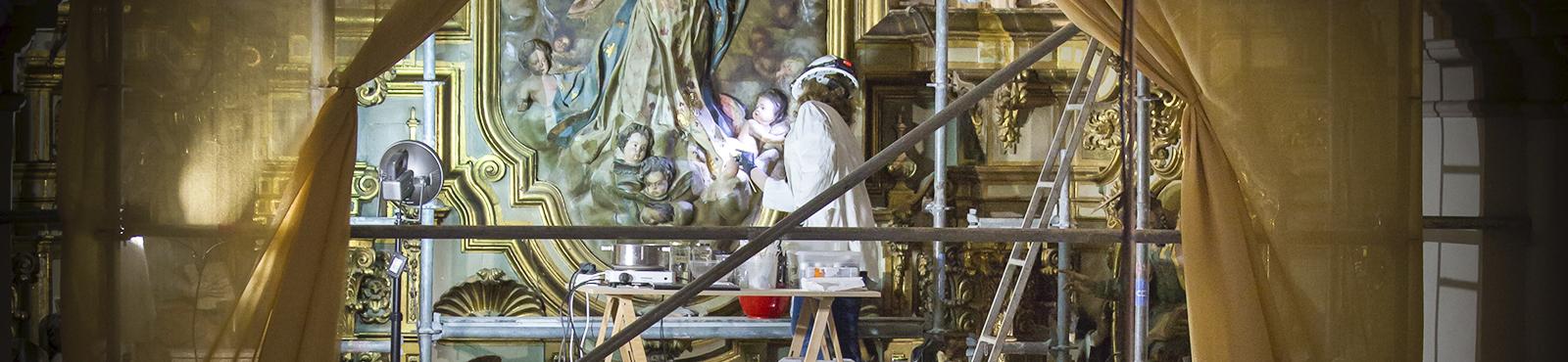 Restauración del retablo de la colegiata